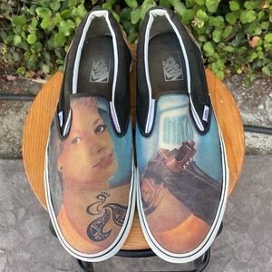 VANS Classic Slip On Tattoo Girl Graffiti Model 13